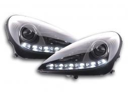 Scheinwerfer Set Daylight LED Tagfahrlicht Mercedes SLK R171 schwarz