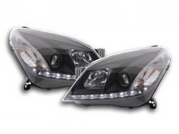 Scheinwerfer Daylight Opel Astra H Bj. 04-10 schwarz für Rechtslenker