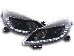 Tagfahrlicht Scheinwerfer gebraucht Daylight Opel Corsa D Bj. 06- schwarz