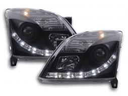 Scheinwerfer Set Daylight LED TFL-Optik Opel Vectra C Bj. 02-05 schwarz
