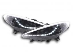 Scheinwerfer Set Daylight LED Tagfahrlicht Peugeot 207 Bj. 06- schwarz