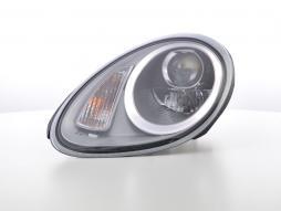 phares Daylight LED DRL look Porsche Boxster (987) année de costr.  04-08 silber
