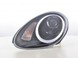 Scheinwerfer Set Daylight LED TFL-Optik Porsche Boxster (987) Bj. 04-08 schwarz