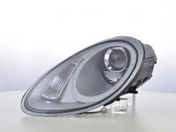Scheinwerfer Set Daylight LED TFL-Optik Porsche Boxster Typ 987 Bj. 04-09 silber