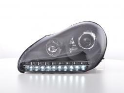 Scheinwerfer Set Daylight LED TFL-Optik Porsche Cayenne Bj. 03-07 schwarz