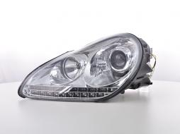 headlights Daylight LED DRL look  Porsche Cayenne 9PA year 02-06 chrome
