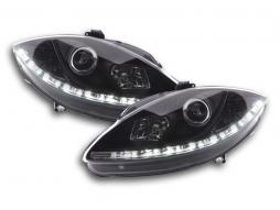 Scheinwerfer Set Daylight LED Tagfahrlicht Seat Leon 1P/Altea 5P schwarz