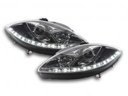 Scheinwerfer Set Daylight LED Tagfahrlicht Seat Leon 1P Bj. 09- chrom