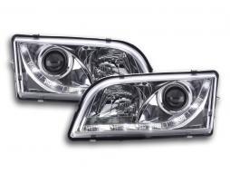 Scheinwerfer Set Daylight LED TFL-Optik Volvo S40/V40 Typ V Bj. 96-04 chrom