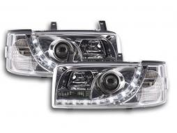 Daylight headlight  VW Bus type T4 Yr. 90-03 chrome