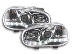 Tagfahrlicht Scheinwerfer Daylight VW Golf 4 Bj. 97-03 chrom