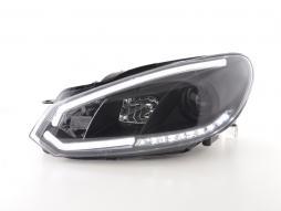 Tagfahrlicht gebraucht Scheinwerfer Daylight VW Golf 6 Bj. 08-12 schwarz
