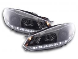 DRL Daylight Headlight VW Golf 6 type 1K Yr. 08- black RHD