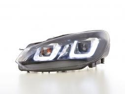 Daylight Scheinwerfer LED Tagfahrlicht VW Golf 6 Bj. 08-12 schwarz