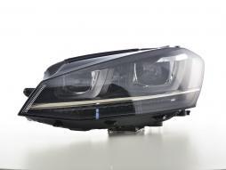 Scheinwerfer Set Daylight LED Tagfahrlicht VW Golf 7 Bj. ab 2012 schwarz