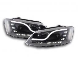 Scheinwerfer Set Daylight LED Tagfahrlicht VW Jetta 6 Bj. ab 2011 schwarz