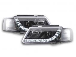 Scheinwerfer Set Daylight LED Tagfahrlicht VW Passat Typ 3B Bj. 97-00 schwarz