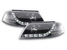 Scheinwerfer Set Daylight LED Tagfahrlicht VW Passat Typ 3BG Bj. 00-05 schwarz