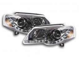 Scheinwerfer Set Daylight LED Tagfahrlicht VW Passat Typ 3C Bj. 05-10 chrom