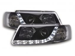Scheinwerfer Set Daylight LED TFL-Optik VW Passat Typ 3B Bj. 97-00 schwarz