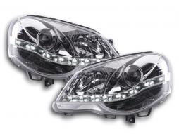 Scheinwerfer Set Daylight LED Tagfahrlicht VW Polo 4 9N3 chrom