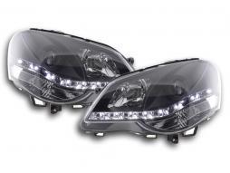 Scheinwerfer Set Daylight LED TFL-Optik VW Polo Typ 9N3 Bj. 05-09 schwarz für Rechtslenker