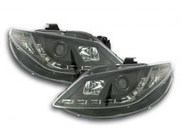 Scheinwerfer Set Daylight LED TFL-Optik Seat Ibiza Typ 6J Bj. 08- schwarz