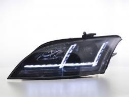 Scheinwerfer Set Xenon Daylight LED Tagfahrlicht Audi TT 8J Bj. 06-10 schwarz