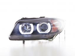 Scheinwerfer Set Xenon Daylight LED TFL-Optik BMW 3er E90/E91 Bj. 05-08 schwarz