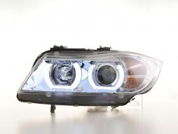 headlights Xenon Daylight LED DRL look  BMW serie 3 E90/E91 saloon/station wagon  year 05-08 chrome