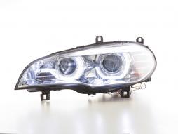 Scheinwerfer Xenon Daylight LED Tagfahrlicht BMW X5 E70 Bj. 06-10 chrom AFS