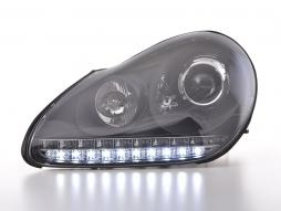 Scheinwerfer Set Xenon Daylight LED TFL-Optik Porsche Cayenne Bj. 03-07 schwarz