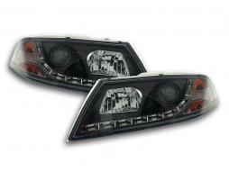 Scheinwerfer Set Daylight LED TFL-Optik Skoda Octavia Typ 1Z Bj. 04-08 schwarz
