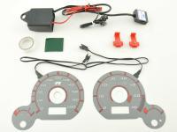 Tachoscheiben Plasmaoptik Set VW Passat (3BG) Bj. 2000-2004 Plasmascheibe Tacho