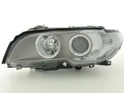 Verschleißteile Scheinwerfer links BMW 3er E46 Coupe Bj. 03-06, grau