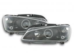 Scheinwerfer Set Peugeot 106 Bj. 96-03 schwarz