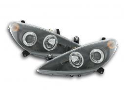 Scheinwerfer Set Peugeot 307 Bj. 01-06 schwarz