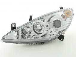 Scheinwerfer Design gebraucht Peugeot 307 Bj. 01-06 chrom