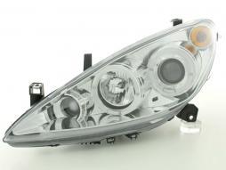 Scheinwerfer gebraucht Peugeot 307 Bj. 01-06 chrom