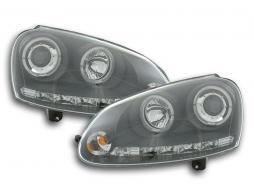 Scheinwerfer Design gebraucht für VW Golf 5 (Typ 1K) Bj. 03-08 schwarz