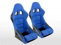FK Sportsitze Auto Vollschalensitze Set Edition 2 Stoff blau blau