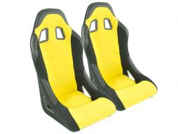 Sportseat Set Edition 4 fabric yellow