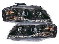 Scheinwerfer Daylight gebraucht für Audi A3 (Typ 8P) Bj. 03-07 schwarz