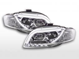 Daylight headlight LED daytime running lights Audi A4 type 8E 04-08 chrome