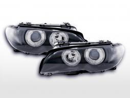 Angel eye headlight BMW 3er Coupe type E46 03-05 black