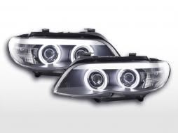 Scheinwerfer Set Xenon Daylight CCFL TFL-Optik BMW X5 E53  03-06 schwarz