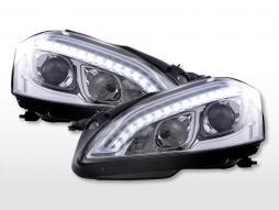 Daylight headlight LED DRL look Mercedes-Benz S-Class (221) 05-09 chrome