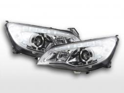 Headlight set Opel Astra J 5-door 2009-2012 chrome with engine