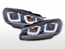 Daylight headlight LED daytime running lights VW Golf 6 08-12 black