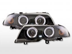 Angel eye headlight BMW 3-series E46 Limo / Touring 98-01 black